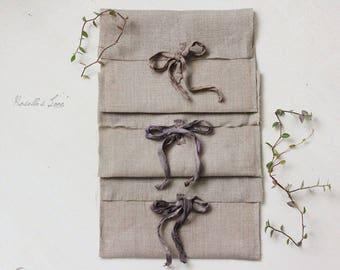 "5""x7"" size, 100% Natural linen envelopes set of 10 photo packaging, invitation envelopes, CD envelopes, eco friendly"