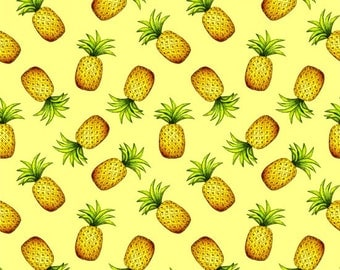 Blank Quilting Pink Lady Pineapple fabric - 1 1/2 yards - Last Piece