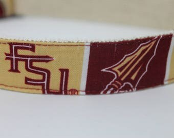 Florida State University hemp dog collar or leash