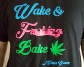 ADULT CONTENT, Wake and F****** Bake, Ganja Granny, Tshirt, Funny, Marijuana, Cannabis, Weed Tshirt, Weed Shirt, Marijuana Tshirt