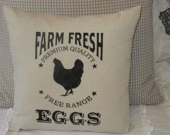 Farm Fresh Eggs Pillow Cover