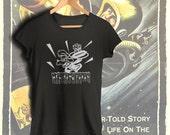New Bomb Turks   tee  T shirt screen print short sleeve  black shirt cotton