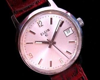 Elgin Calendar Watch - All Stainless Steel - c.1960's