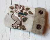 sweater mittens, gift for woman, recycled sweaters, upcycled sweaters, miracle mittens, etsy mittens, felted wool mittens, squirrel mittens