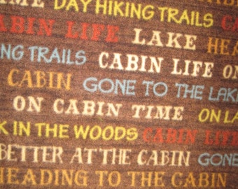Cabins, Tents, Lakes with Gold Fleece Blanket
