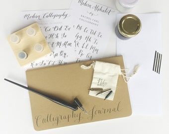 Calligraphy Starter Kit with Gift Box + ON SALE + Free Name Personalization / Mother's Day Gift