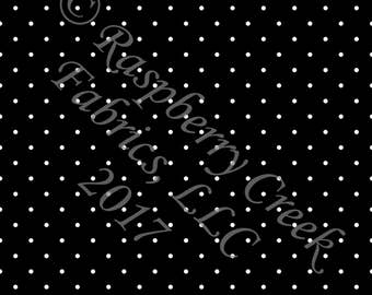 Black and White Pin Polka Dot 4 Way Stretch Jersey Knit Fabric, Club Fabrics PRE-ORDER