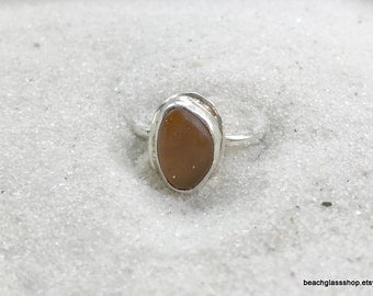 Sea Glass Ring - Sterling Seaglass Ring - Size 6 Sterling Beach Ring - Lake Erie Jewelry - Free Shipping inside US