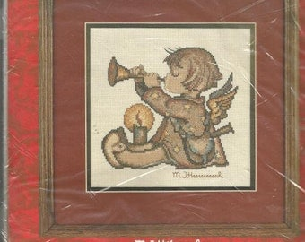 Hummel Angel With Horn Counted Cross Stitch Kit Embroidery Kit Craft Kit Unopened Cross Stitch Kit