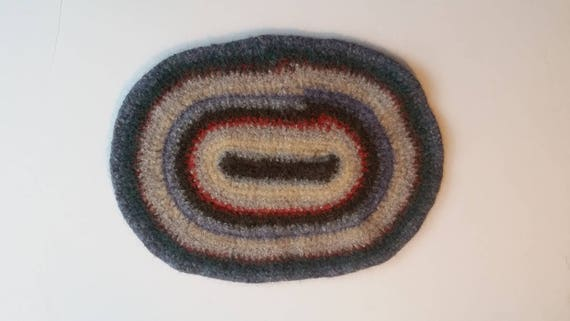 """50 % -"""" MAYSALE"""" code,Exquisite Artisan Made Felted Placemat, Mid-Century colors"""