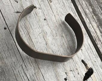Brass Cuff One Size Layering Bangle 13mm 18ga