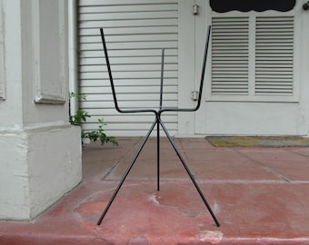 Vintage Mid Century Black Plant Stand For Standard Pot