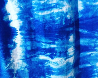 Custom Hand Dyed Indigo Shibori Curtain Set