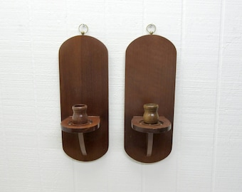 Vintage Wooden Wall Sconces Candle Sconces