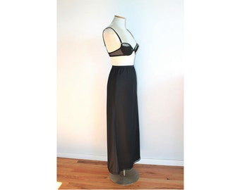 1960s Long Black Slip // Lady Lynne