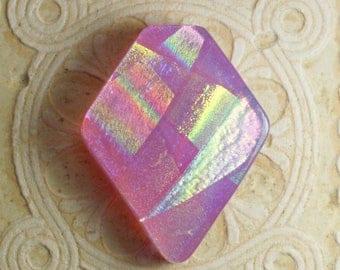 Dichroic Glass Cabochon. C-195