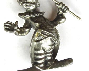vintage pewter circus clown
