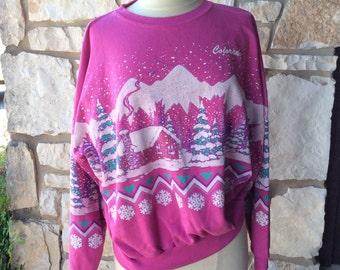 "Vintage Novelty ""Colorado"" Puffy Print Sweatshirt"