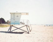 Clearance Sale- Lifeguard Tower, Beach Photography, Coastal Wall Art, 8x10 Photograph, In Stock