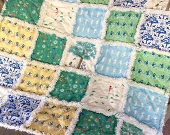 Meadowlark Baby Rag Quilt Lap Quilt