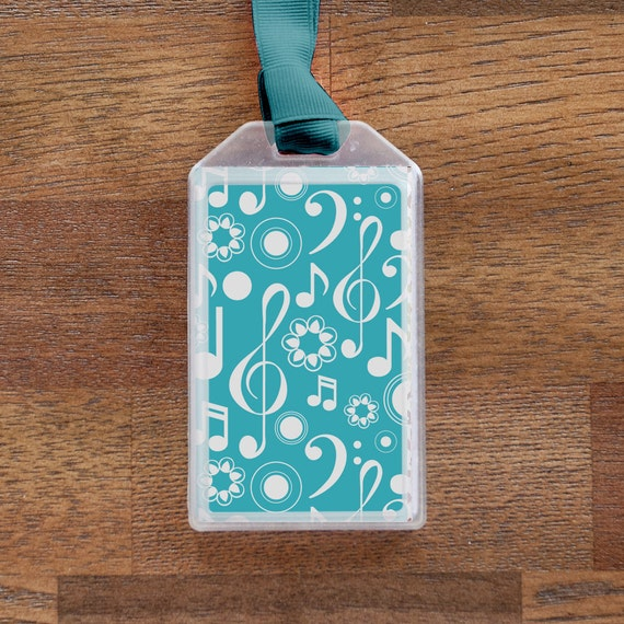 Blue Luggage Tag or Instrument Case ID for Musicians
