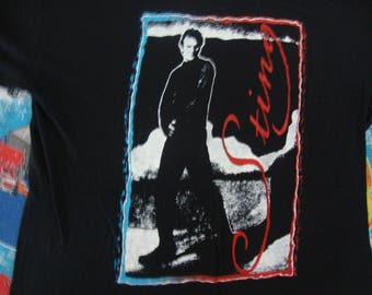 Vintage 80's STING of The Police Rare Concert Tour T Shirt Size L