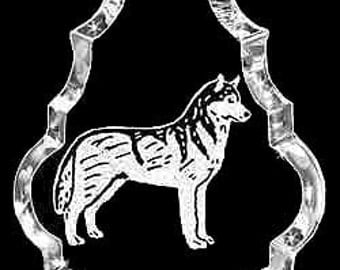 Siberian Husky Dog Custom Crystal Necklace Pendant Jewelry, Suncatcher made with any Animal or Name YOU Want, Gift , Dog Lover, Handler,