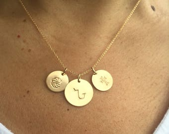 Armenian Initial Necklace, Armenian Necklace, Personalized Necklace
