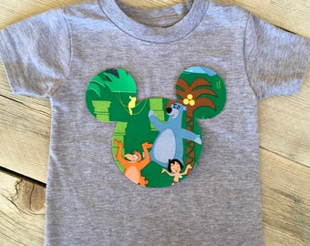 Jungle Book Mickey Mouse Inspired Iron On Applique DIY