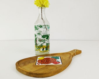 Vintage wooden cheese board, cutting board, Pineapple wall decor, serving tray