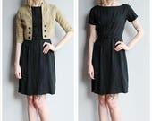 SALE 1950s Dress // Adrian Tabin Linen Dress & Chevron Jacket // vintage 50s dress