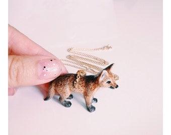 Porcelain Fox Necklace