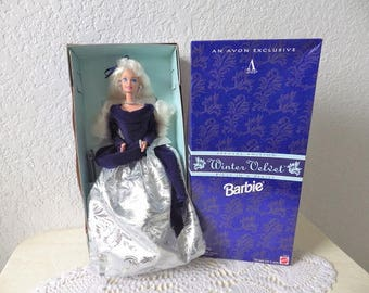 Winter Velvet Barbie, An Avon Exclusive. Special Edition, First in a Series, 1995. NRFB.