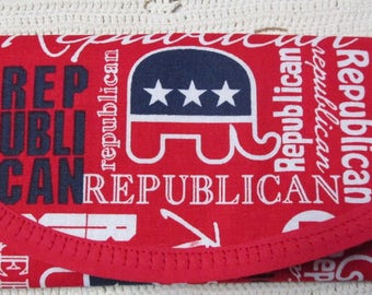 for Allison dog trainer Treat Bag, Republican Party Fabric, Padding Bags & Purses Envelope style, 7 x 3 inch loop on back for carbeaner