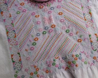 Guatemalan Huipil - Blush Pink - Nahuala Guipil - Mayan Blouse