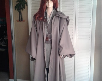 Star Wars Jedi Knight Cocoa Brown Anakin Style Handmade Robe Size X-Small & Hemmed for You