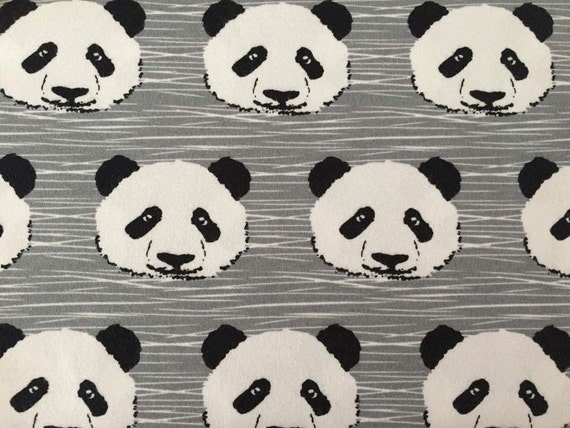 Panda jersey pandas knit for children fabric for t shirts for Children s jersey fabric uk