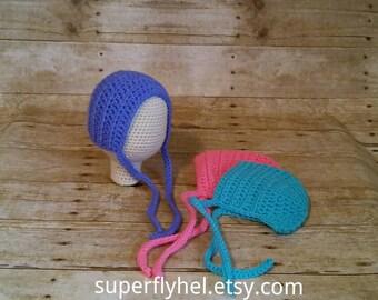 Baby Bonnet Bonnet Newborn Bonnet Knit Baby, Bonnet, Baby Girl Bonnet, Baby Bonnets, Crochet Bonnet, Girls Bonnet, Newborn Prop Bonnet