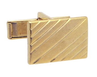 Antique/Vintage Gold tone Rectangle Cufflinks #1414