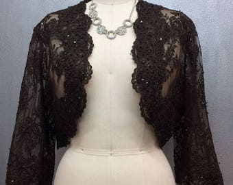 Brown Lace Jacket Bolero Sample Sale
