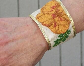 Sleepy Hollow Inspired Hand Embroidered Katrina Bracelet