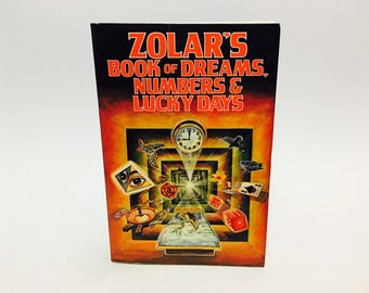 Vintage Occult Book Zolar's Book of Dreams, Numbers and Lucky Days 1987 Softcover