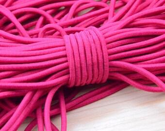5 yards Rose Elastic cord, Elastic string, Elastic round Rope, DIY Making 4mm