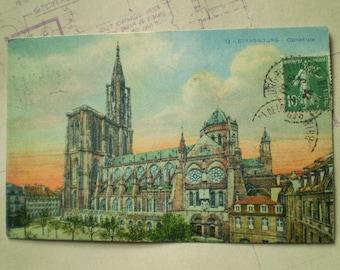 Strasbourg - 1926 - Cathedrale - Vintage French Postcard