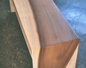 Custom Modern Minimalist Hardwood Benches for Carly