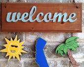 California Ornaments for WELCOME sign