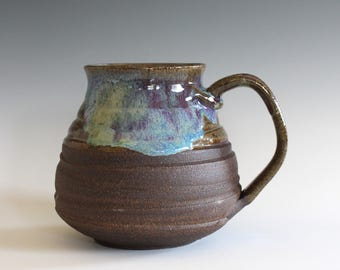 Pottery Mug, 22 oz, handmade ceramic cup, handthrown mug, stoneware mug, pottery mug, unique coffee mug, ceramics and pottery