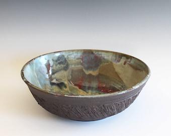 Handmade Ceramic Bowl, pottery bowl, hand thrown stoneware bowl, ceramic serving bowl