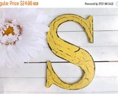 SPRING SALE Large Letter S / Wall Letter / Wood Letter / Choice Color / Cottage/ Wedding / Shabby Chic Decor