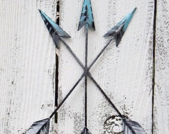 Gray Teal Black Large Metal Wall Art By
